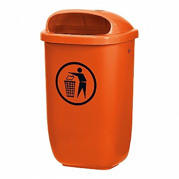 DIN 30713 orange waste bin