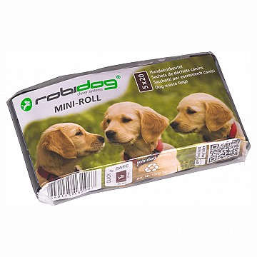 MINI-ROLL – set with 5 rolls of 20 dog-waste bags 200x330mm